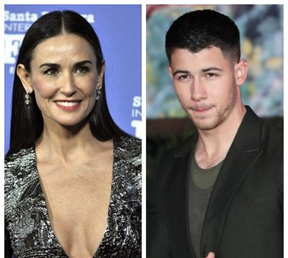 Demi Moore namora com Nick Jones, 30 anos mais novo