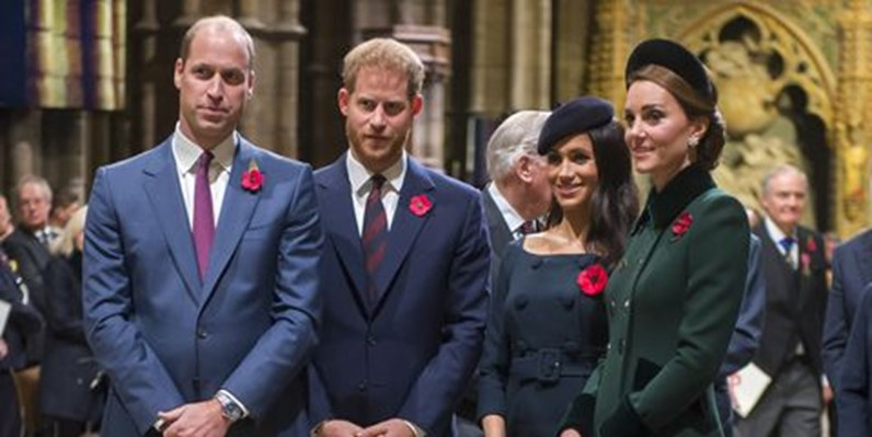 William e Kate, Harry e Meghan: cada vez mais afastados