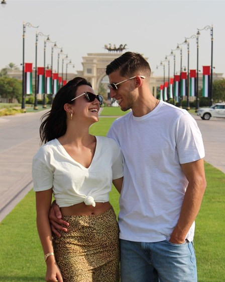 Do Dubai para as Maldivas...Ruben Dias e April Ivy continuam de férias!